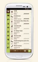 Dog's Places Android Liste