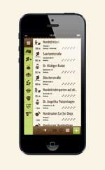 Dog's Places iPhone Liste